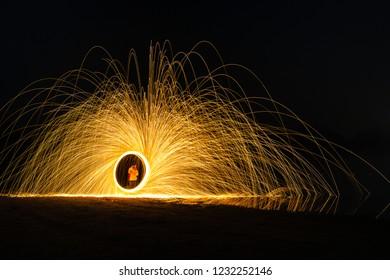 Burning Steelwool Counterclockwise Coastline Cis