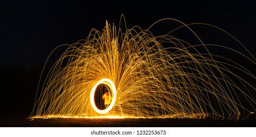 Burning Steelwool Counterclockwise Framed Cis