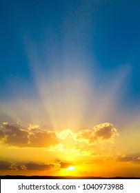 Burning Sunset Cloudscape