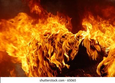 Burning tire in Iraq