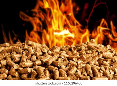 burning wood chip pellets a renewable source