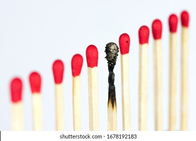 Burnout an illness, symbolized by matches