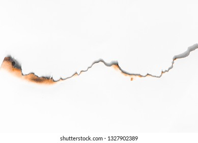 Burns of paper on white backgrounds