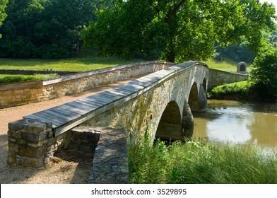 Burnside Bridge at Antietam Battlefield at Sharpsburg, Maryland, USA