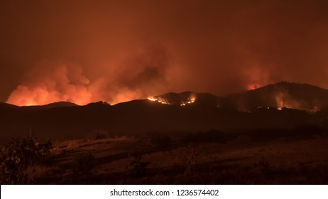 Burnt Area during Woolsey Fires in Malibu Los  Angeles Post Apocalyptic
