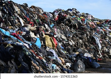 Burnt clothes on a bin in the province of Alicante, Costa Blanca, Spain