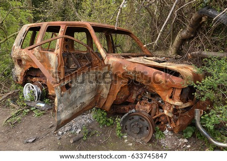 burnt out car a