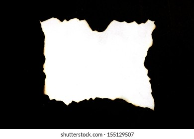 Burnt paper around. Art is a form of a black background.
