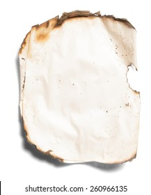 burnt paper from a fire