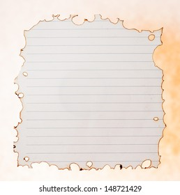 burnt paper isolated