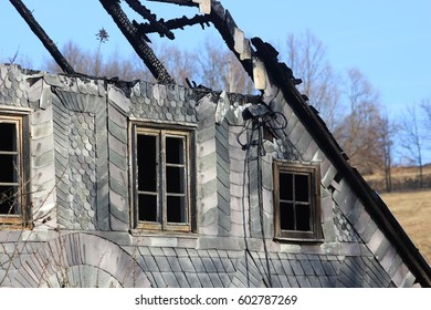 Burnt roof in Poland