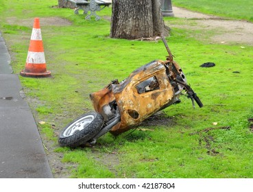 Burnt scooter