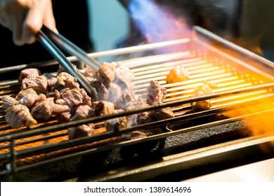 Burnt Steak in Taiwanese Night Market