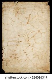 Burnt textured dirty paper background with torn borders