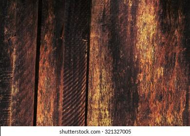 burnt wooden plank