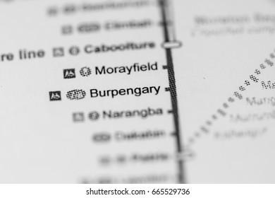 Burpengary Station. Brisbane Metro map.
