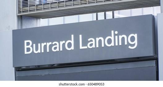 Burrard Landing in Vancouver - VANCOUVER / CANADA - APRIL 12, 2017