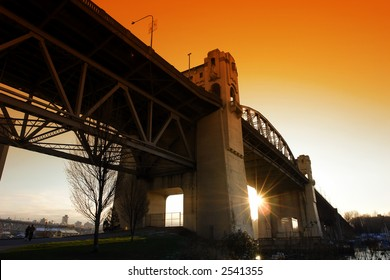 Burrard Street Bridge in Vancouver, BC