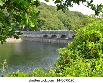 Burrator Reservoir in Dartmoor National Park, Devon, UK, reservoir supplies drinking water to the city of Plymouth