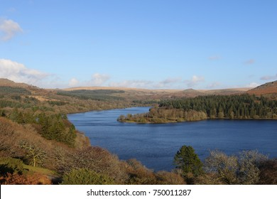 Burrator Reservoir during the Autumn in Dartmoor National Park Devon UK