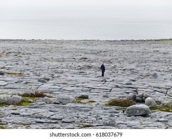 Burren National Park in Co. Clare - Ireland/ Burren/ Rocky landscape in Burren - Ireland