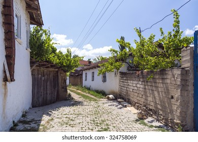 Bursa, Turkey - May 12, 2015: View from Burcun, a Turkish Manav village near Yenisehir in Bursa Province of Turkey on May 12. The Greek-built village is one of the oldest settlements in the region.
