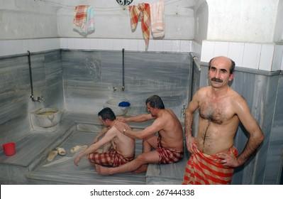 BURSA, TURKEY - MAY  4:  Turkish Bath  on May  4, 2006 in Bursa, Turkey.
