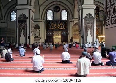 Bursa, Turkey - ON August/03/2010 - Bursa Grand Mosque or Ulu Cami
