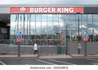BURSA,TURKEY - FEBRUARY 15TH 2018 : burger king restaurant at Bursa,Turkey.Burger King is an American global chain of hamburger fast food restaurants.