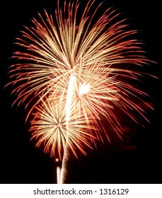 Burst of fireworks.