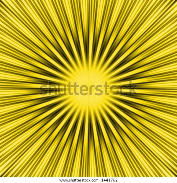 a burst / yellow star background