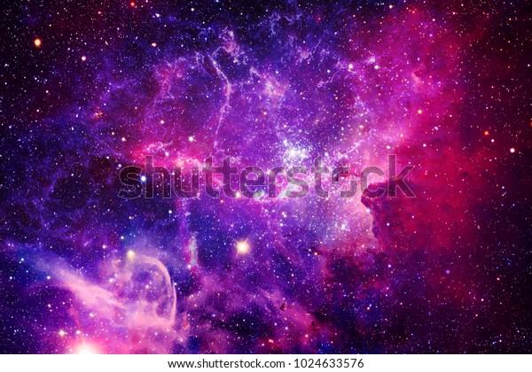 Разрывная Галактика - Элементы этого изображения, меблированные НАСА