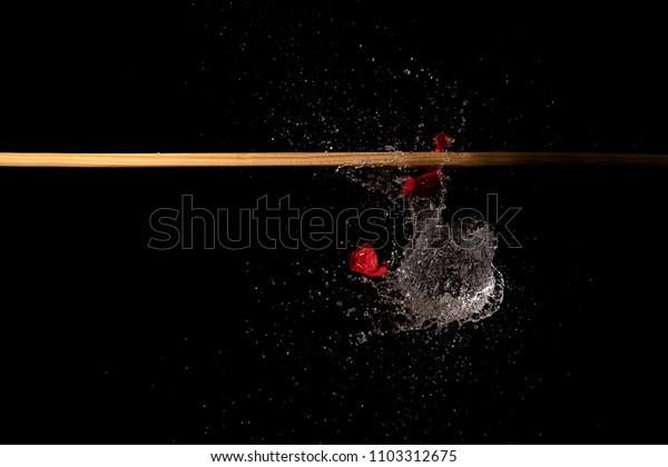 Bursting water balloon