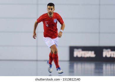 BURTON-UPON-TRENT, ENGLAND - SEPTEMBER 20, 2019: Doug Reed of England during the England vs Germany International Futsal Friendly match at St. Georges Park.