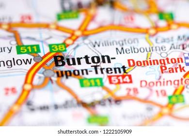 Burton-upon-Trent. United Kingdom on a map