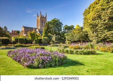 Bury St Edmunds Cathedral and Abbey Gardens, Cambridgeshire, England, UK