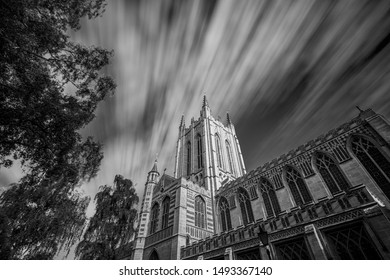 Bury St Edmunds Cathedral long exposure in black & white
