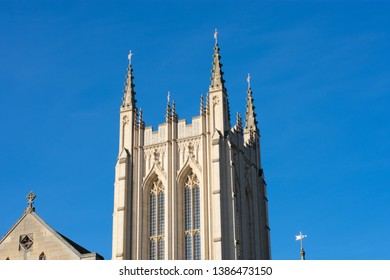 Bury st Edmunds Cathedral on a sunny day