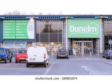 BURY ST EDMUNDS, ENGLAND - 23 April, 2015: 'Dunelm' storefront in  Moreton hall, Bury St Edmunds, England.
