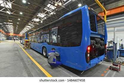 Bus assembly at the factory