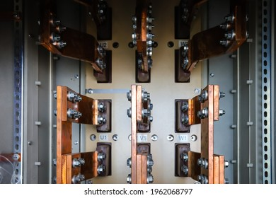 Bus bar terminal of medium voltage power generator consist of U1, V1, W1, U2, V2 and W2.