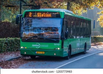 Bus At The J.C. Wilslaan Street Apenheul Zoo Apeldoorn The Netherlands 2018