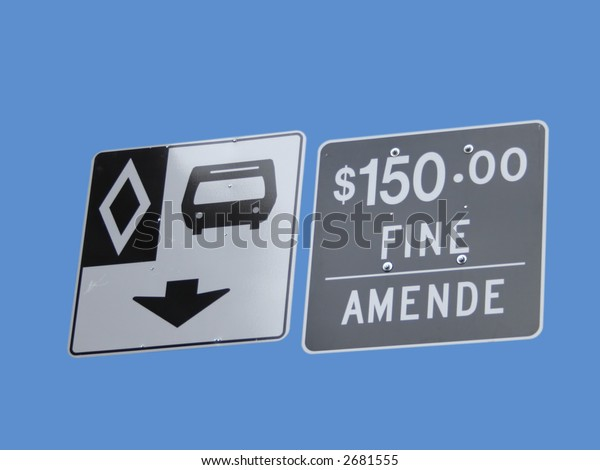bus lane sign with threat of fine