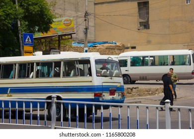 A Bus leaving the Bus Station in Sulaymaniyah, Iraqi-Kurdistan July 14th 2018
