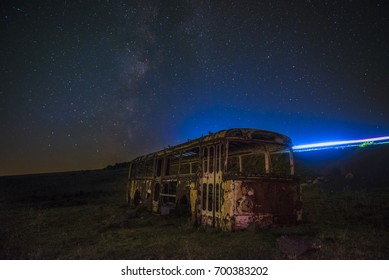 bus and milky-way
