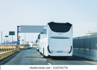 Bus on the road in Italy