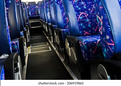 bus seats inside the bus