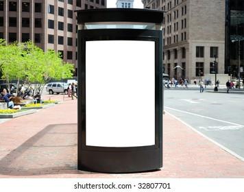 Bus Stop Billboard in the City