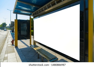 Bus stop billboard on stage,qingdao,china