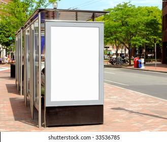 Bus stop billboard for outdoor advertising